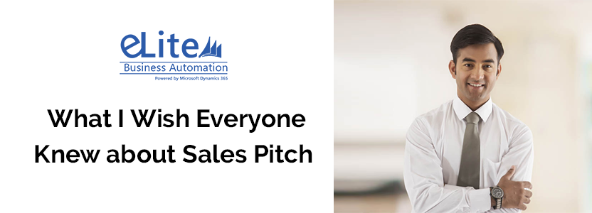 What I Wish Everyone Knew about Sales Pitch